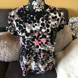 VERA WANG Simply Vera Print T-Shirt Size PL